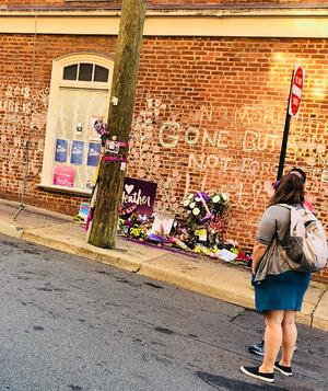 Heather Heyer memorial in Charlottesville - SafeGuard Cyber Blog