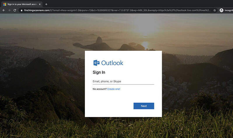 Office 365 phishing landing page(1)