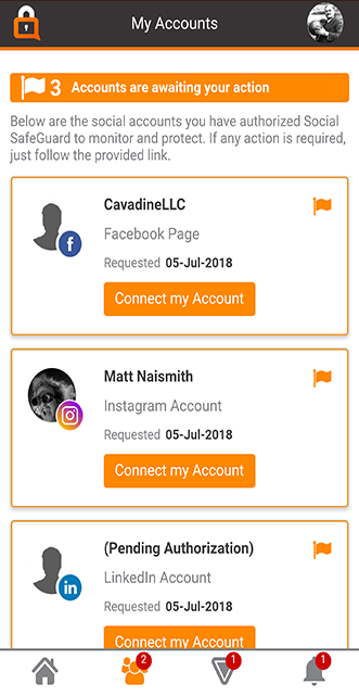 SafeGuardMe - Site - 2 - Accounts