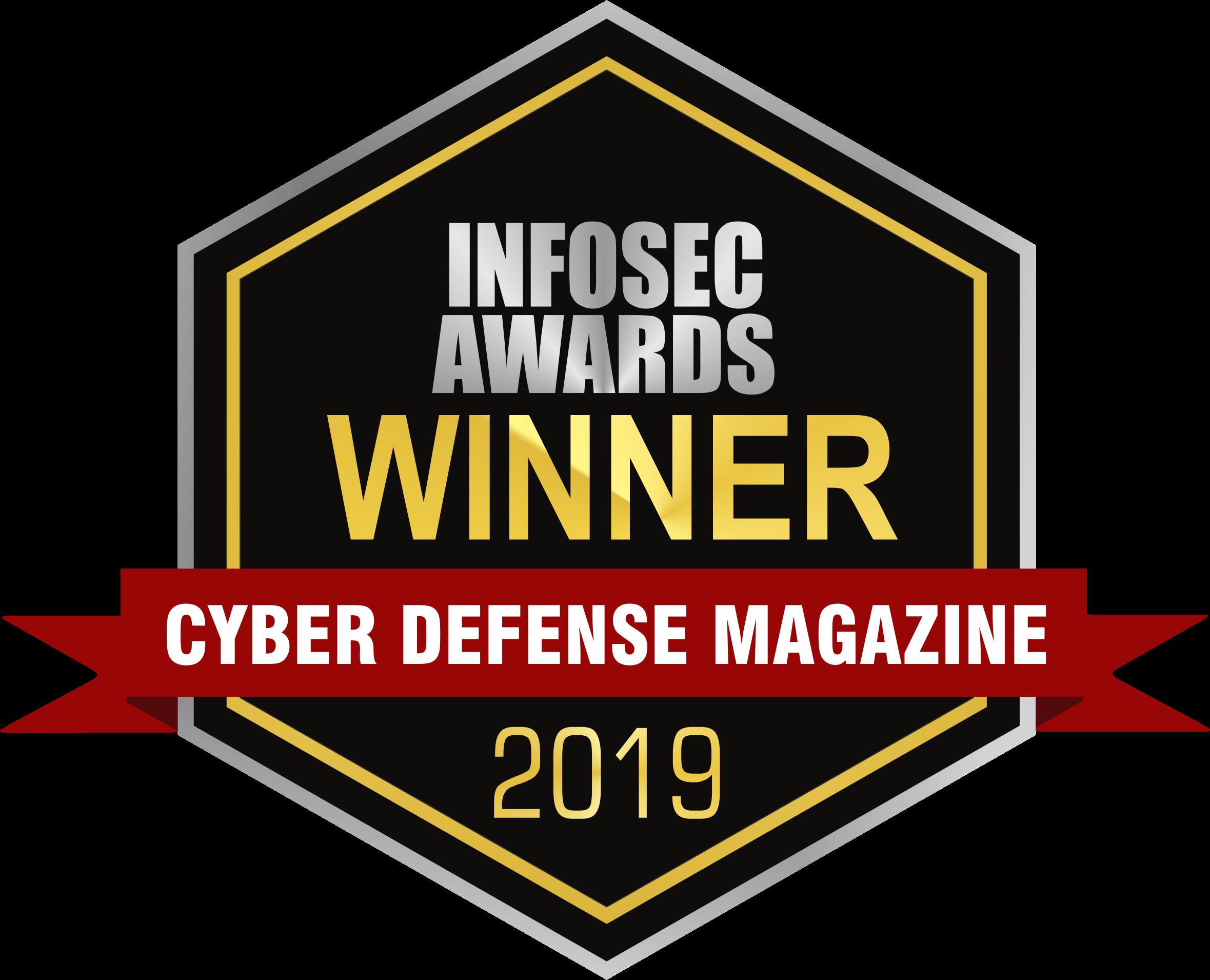 Cyber defense Magazine Infosec Award Winner 2019